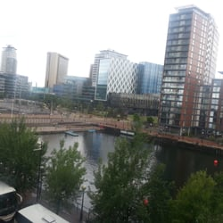 View from Lowry car park of Media City.