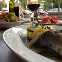 Sea-bass and potatoes with Thyme