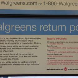 Can you return makeup to walgreens
