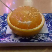 Ichiban Sushi - Complimentary orange. - Toronto, ON, Kanada