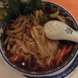 beef soup with rice noodle