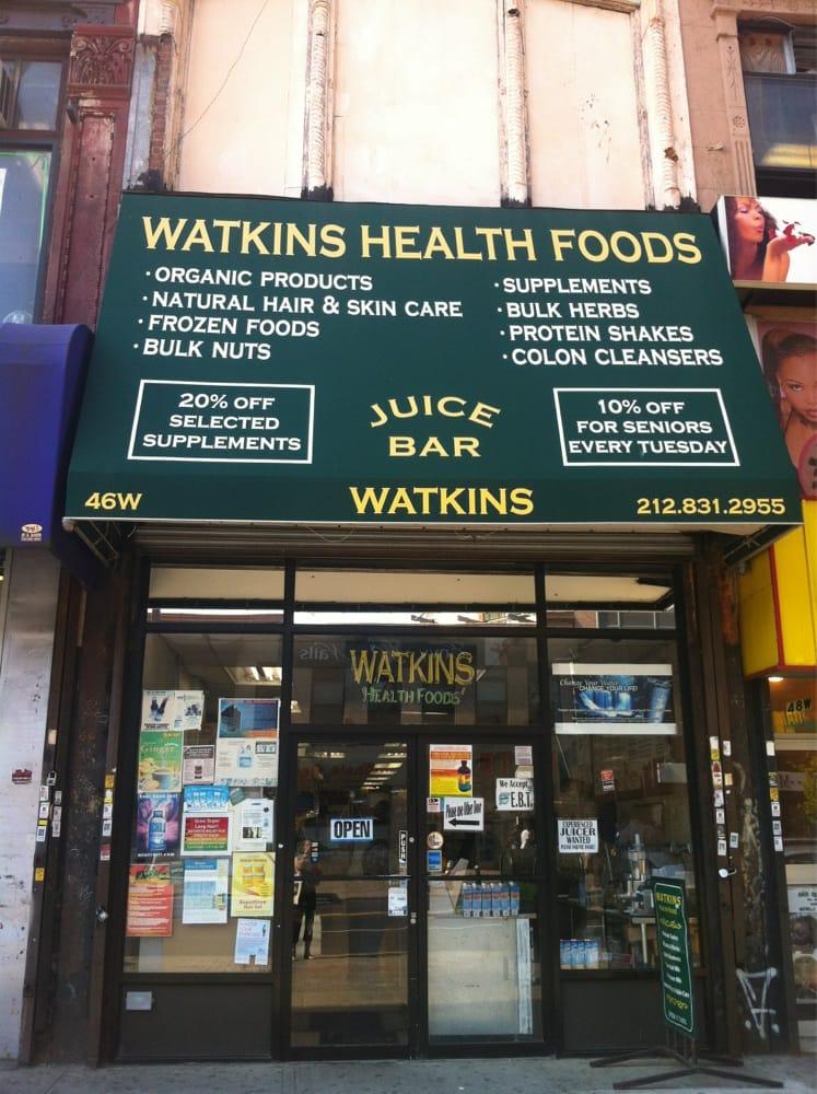 Watkins health products health food harlem new york for Harlem food bar yelp