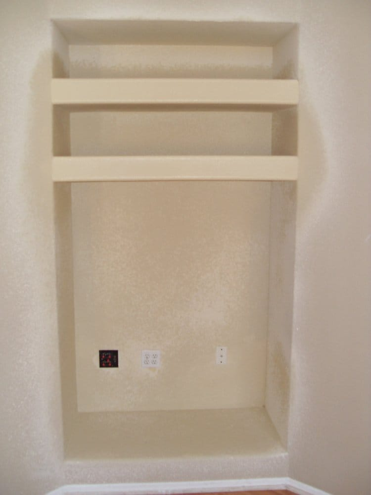 Simple conversion of a wall niche 39 to an entertainment for Reliable remodeling