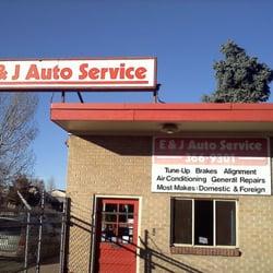 E & J Auto Service logo