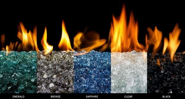 Fire glass all colors for fire pit and fireplace