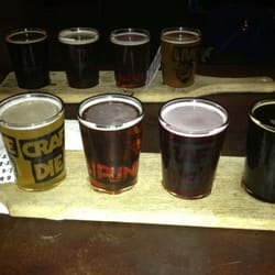 Flights of beer, always good to make sure you've sampled as much as possible