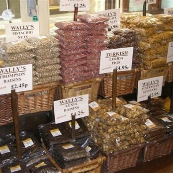 Dried fruits and nuts - just a taste of some of the varied stock at Wally's wonderful deli!