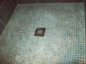 wetroom floor i fitted with slate multi coloured mosaic from mosaic ...