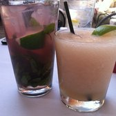 James' Beach - Raspberry Mojito and White Peach margarita - Venice, CA, Vereinigte Staaten