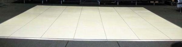 White Seamless Flooring White Dance Floor Rental