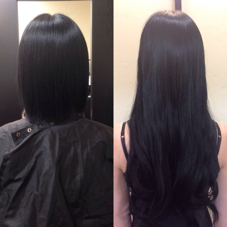 tape in hair extensions before and after pics triple weft hair extensions. Black Bedroom Furniture Sets. Home Design Ideas