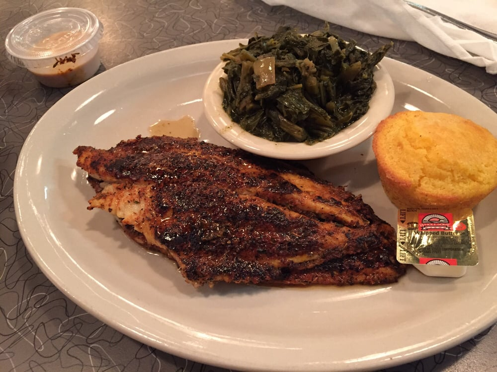 Blackened catfish 2piece and collard greens yelp for Soul fish cafe germantown