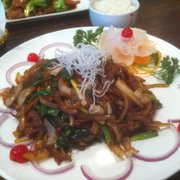 Fume Asian Grill & Sushi - Stroudsburg, PA, États-Unis. Mongolian beef. It tastes as good as it looks.