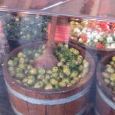 Lovely Green Olives in Feta Cheese. The vats of olives was a delight to witness.
