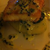 Scarabster halibut with Avruga caviar & herb mash.