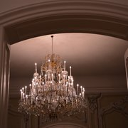 one of many chandeliers at Schloss…