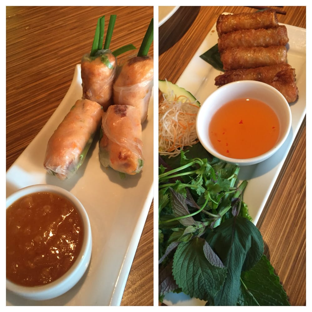 ... States. Grilled shrimp spring rolls and Egg rolls - Both were YUM