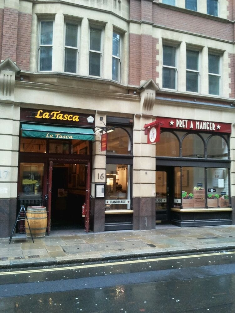 La Tasca - Spanish Restaurants - Liverpool Street / Broadgate ...