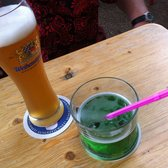 Beer with green leaf syrup- not too sweet!