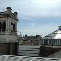 View of London at lunch.