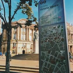 Victoria Square in the morning's sun