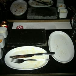 The aftermath.  I am SO stuffed...  oof!