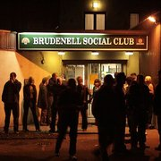 Smokers outside the, er, Brudenell.