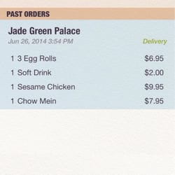 Jade Green Palace - Last time it was chow mein and it was the right meal now i have green gooey shit and the owner said it was my fault - Forest Grove, OR, Vereinigte Staaten