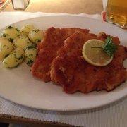 Wiener Schnitzel serving is a lot