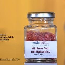 Himbeer-Salz mit Balsamico