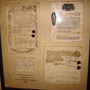 Certificates confirming burial in wool, 18th century