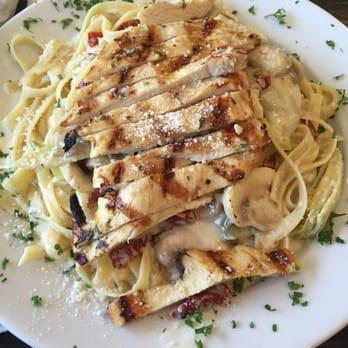 Mushroom, artichoke, and chicken fettuccini