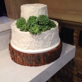 Patty's Cakes and Desserts - Beautiful, simple cake with live succulents ! - Fullerton, CA, United States