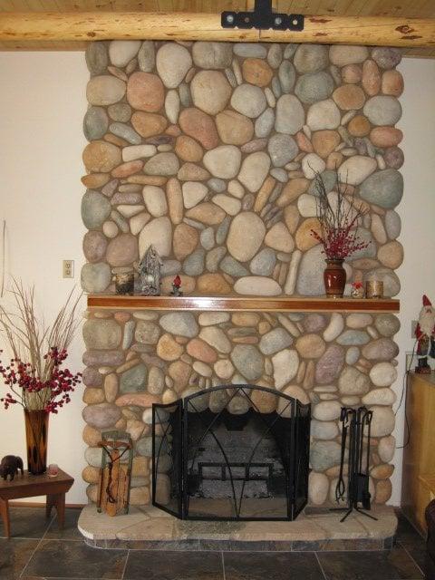 River Rock Fireplace Yelp
