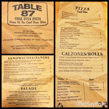 table 87 coal oven pizza 79 photos pizza gowanus