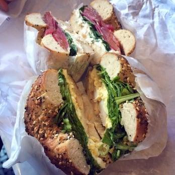 ... cheese, greens, radish; bottom: whitefish salad, egg salad, greens