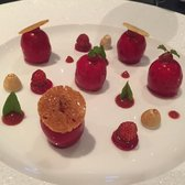 Fois gras de canard in the strawberry jelly