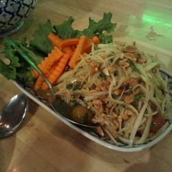 Papaya salad make you tear spicy for Amazing thai cuisine north hollywood