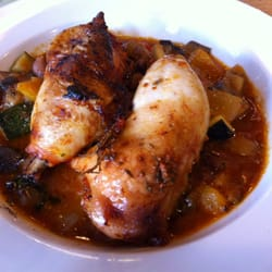 Chicken leg with ratatouille