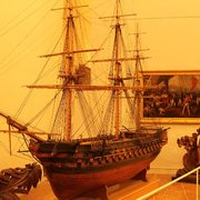 Model 18th century warship