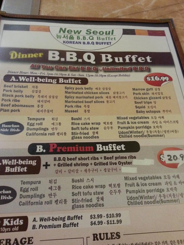 New Seoul Bbq Buffet Restaurant 156 Photos Korean
