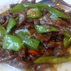 Rindfleisch mit grünem Paprika
