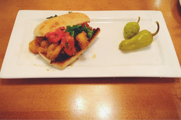 Shrimp Scampi Frittata Sandwich Half For Lunch Yelp