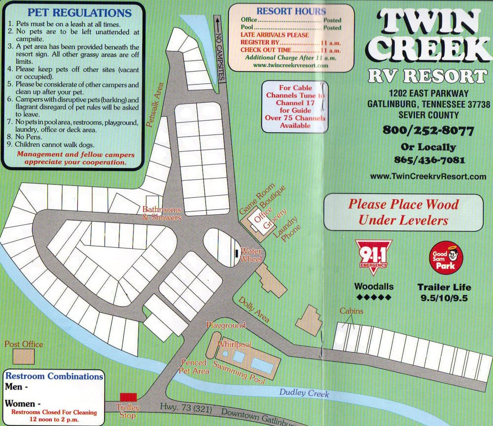 Twin Creek Rv Resort Guest Houses Gatlinburg Tn