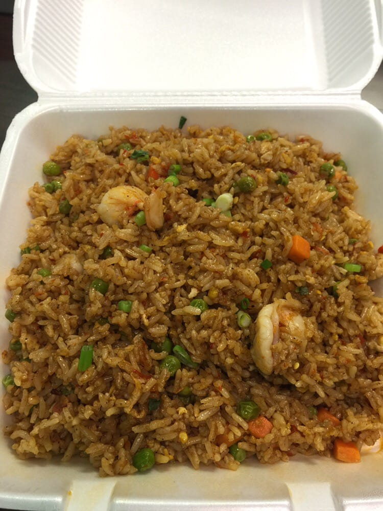 ... and chicken shrimp fried rice with nam prik pao and crispy lemongrass