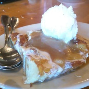 ... Vanilla bread pudding with vanilla bean ice cream and butter scotch