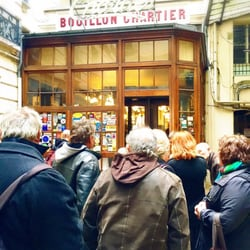 Bouillon Chartier - Paris, France. Line to go in for lunch