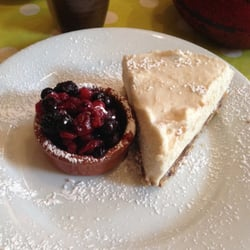 Cheescake aux fruits rouges, sans lactose et sans gluten