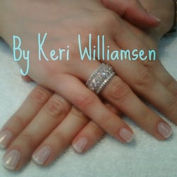 "Nails - ""Natural"" pink gel with ""soft"" white gel overlay - Reno, NV"