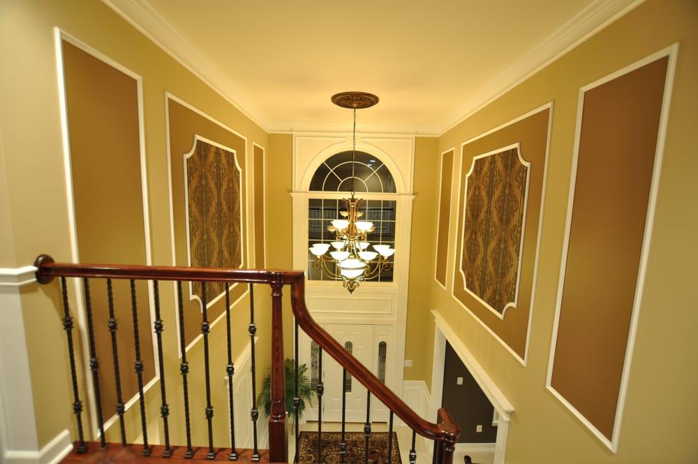 Foyer Door Trim : Foyer picture frames and front door trim also custom